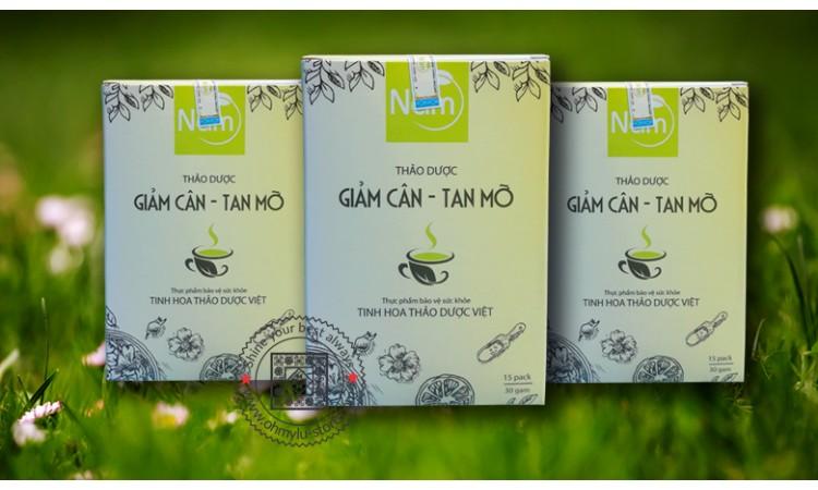 trà nấm thảo dược giảm cân tan mỡ
